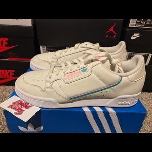 Adidas Continental 80 Off White Pink Mens Shoes